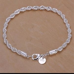 Jewelry - Sterling Silver 925 Rope Chain Bracelet